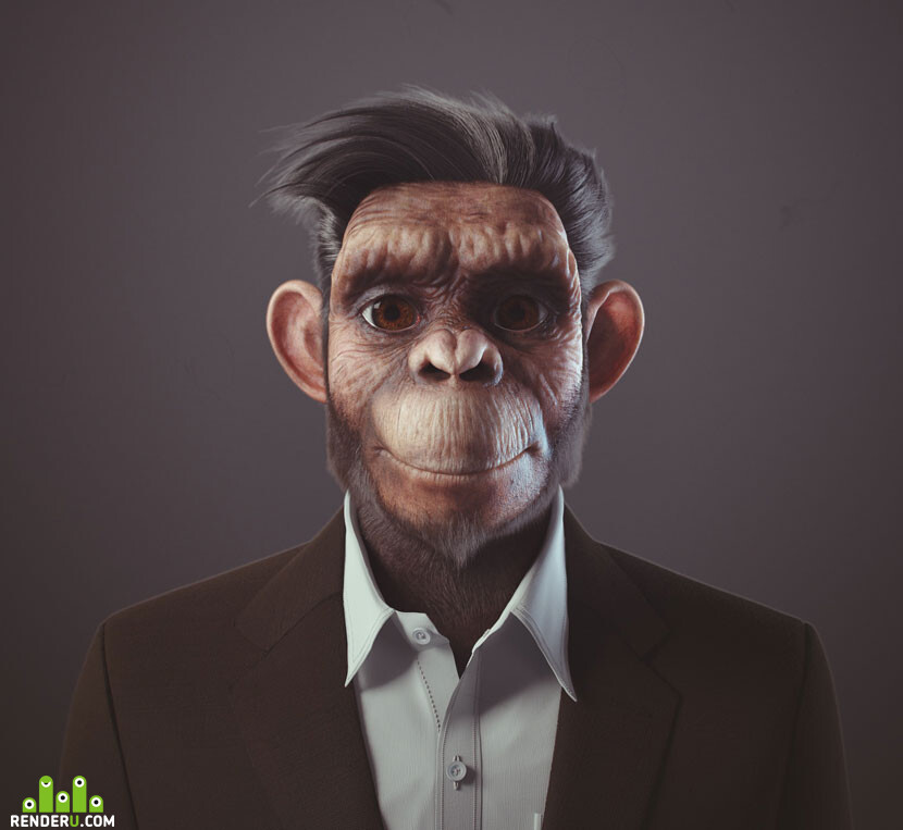 Monkey business? Not really! Photorealistic, cartoonish, fantastical