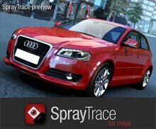 SprayTrace4Maya