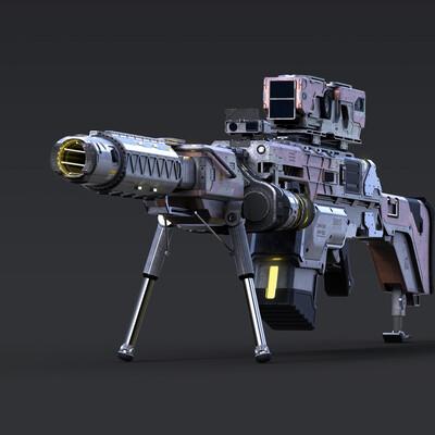 Digital 3D, Science fiction, оружие, винтовка