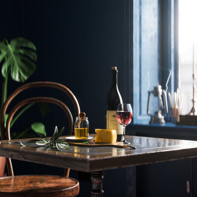 Cinema4D, Corona Renderer, scandinavian, interior, blue