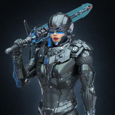#sci-fi, #elf, #sci-fi armor