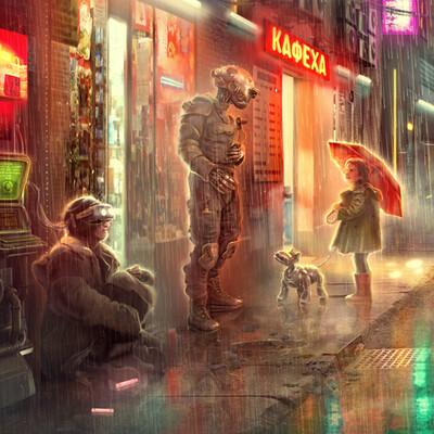 Роботы, киберпанк