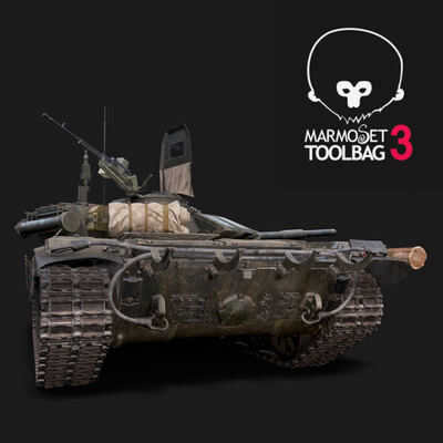 T72 B3 T90 Soviet Main Battle Tank armored vehicle weapon heavy 3d model military russian fighting realistic PBR UE4 materials Rigged Rig