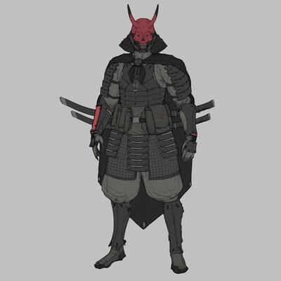 Samurai vs. Shinobi, sci-fi, #sci-fi, scifi, samurai, shinobi, ninja, cyber, cybersamurai, cyborg