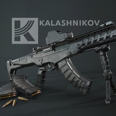 weapon weapons rifle riffle kalashnikov lowpoly