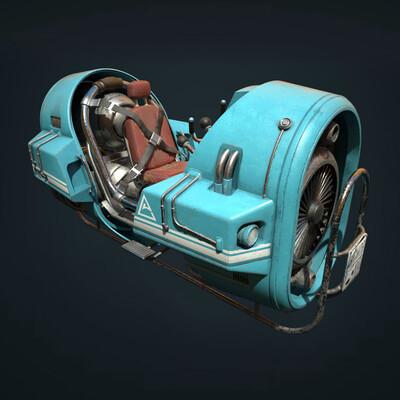 sci-fi, Vehicles, Science fiction, digital 3d