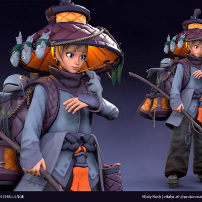 Япония, феодальная япония, Конкурс, Персонажи, игровая модель, игровой персонаж, стилизация