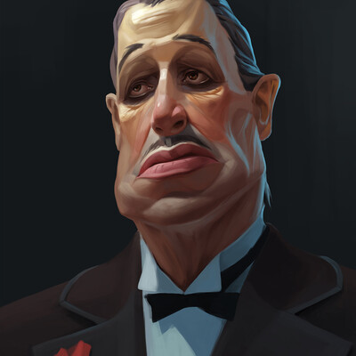 Godfather, digital portrait