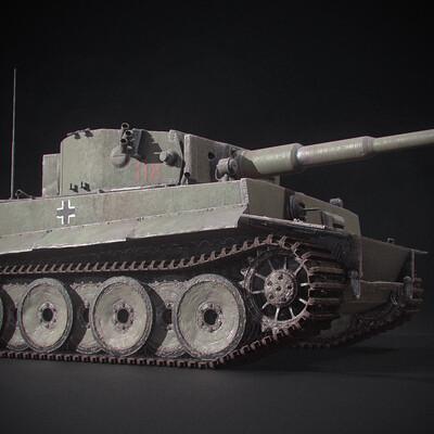 Panzer VI, Tiger, 3ds max, marmorset, tank