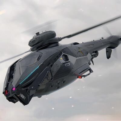 вертолёт, военный, Концепт Арт, игра, дизайн, 3д, Техника, Логинов, геймдев