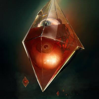 карты, восемь, кристалл, глаза