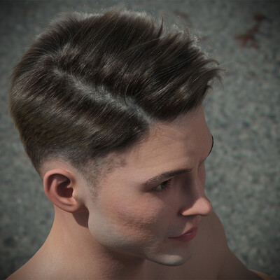 character, ZBrush, grooming, ornatrix grooming, haircut, hairstyle