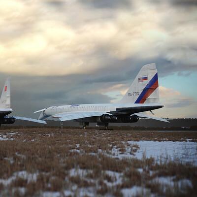 The plane - Tu-144