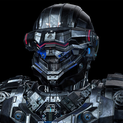 sci-fi helmet, sci-fi, sci-fi armor, high poly, polygonal modeling, sub-d, concept, cyborg, cyborg girl