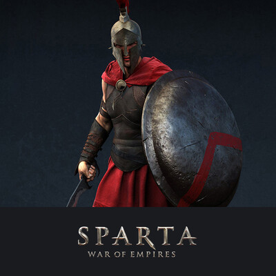 digital 3d, game art, Plarium, Sparta, Greece, warrior