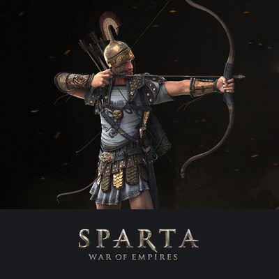 digital 3d, game art, Plarium, Archer, Sparta