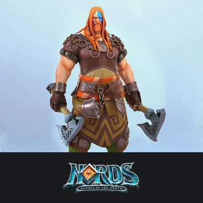 digital 3d, character, design_character, 3D caracter, Nords, Plarium