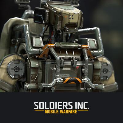 digital 3d, character, soldiers, robot, Plarium