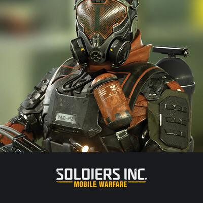digital 3d, digital sculpture, character, design_character, soldiers, future soldiers, Plarium