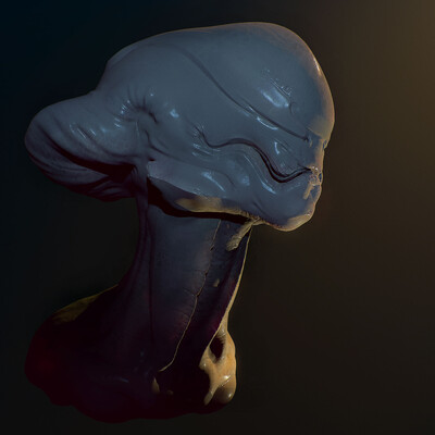 Alien sketch, ZBrush, zbrushsculpt, Pixologic ZBrush, ZBrush - 3D Скульптинг, Adobe Photoshop, Photoshop, 3d, sculpting, speed sculpt