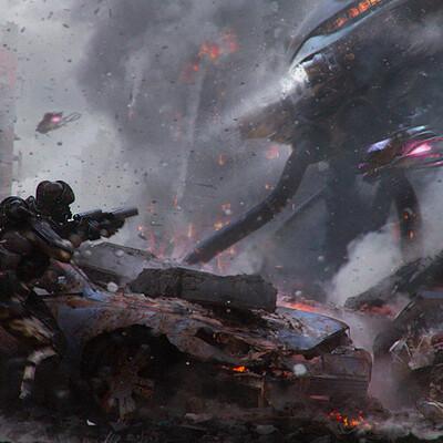 War, abandoned, apocalypse, cyborg, mesh, postapocalypse, robot, soldier