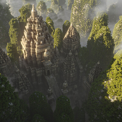 горы, ландшафт, Природа, Храм, Древний храм