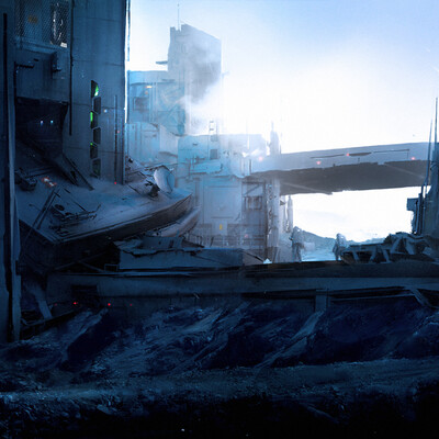 sci-fi, concept, environment desigh, Matte painting