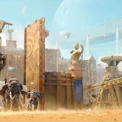 Песок, Город, слоны, окружение