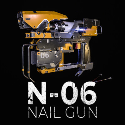 nail gun, nails, Weapons