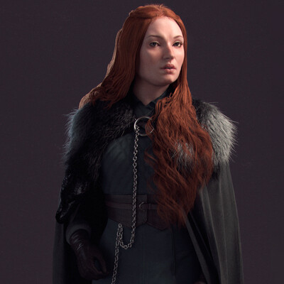 sansa, stark, GoT, gameofthrones, 3d, 3dmodel, ZBrush, substancepainter, ornatrix, marvelousdesigner