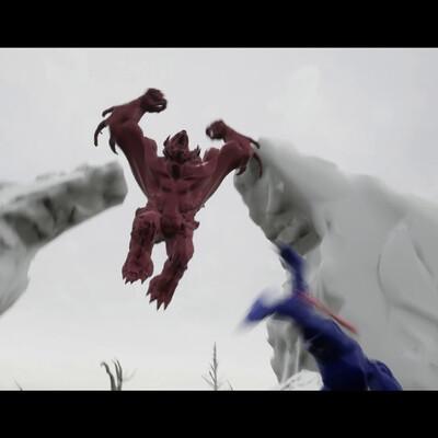 Unreal Engine 4, Maya, Animated Short Film, god of war 4, Animation