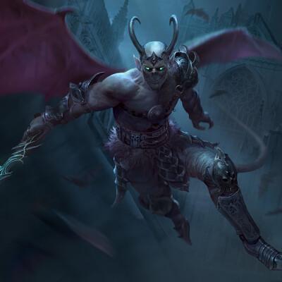 Character, Fantasy, Dark fantasy, fantasy creature, illustration