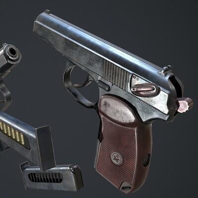 оружие, пм, пистолет, спецназ, полиция, ссср
