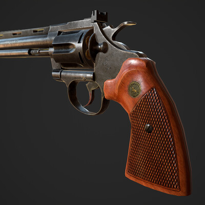 lowpoly, Maya, marmoset, game, Game-ready, gameready, gun, revolver, weapons