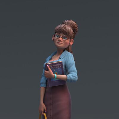 Character, design_character, girl, 3d character, Картун (Cartoon), персонаж, женскийперсонаж, Modo
