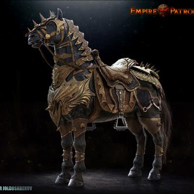 zbrushsculpt, battlehorse