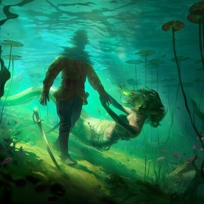 Illustration, mermaid