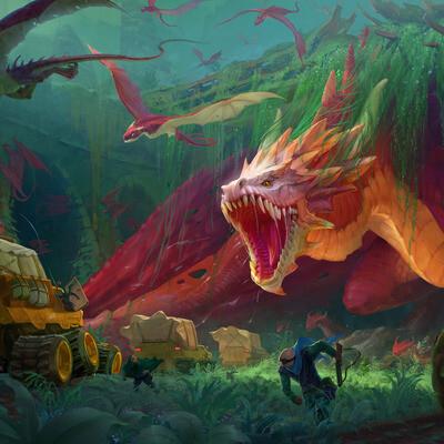 драконы, пост апокалипсис