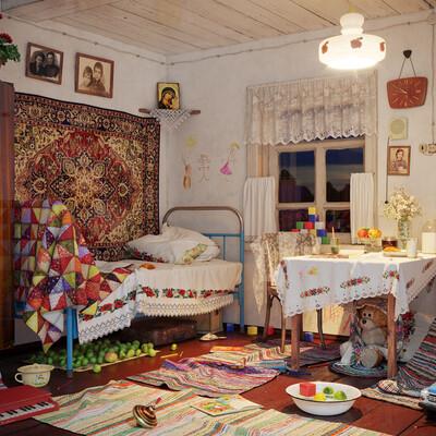interior design,, retro, USSR, 3d toys