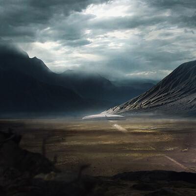 горы, пыль, байки, погоня
