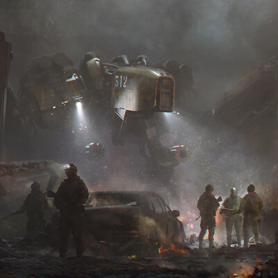 robot, War