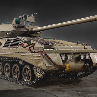 tank, substance painter, WOT, vechicle