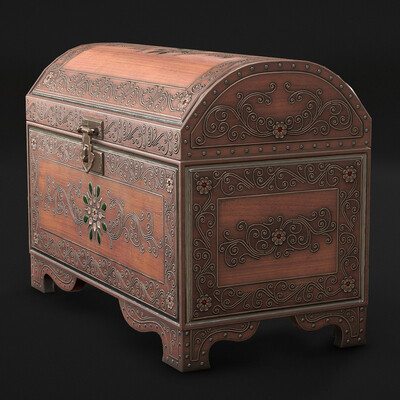 Pattern, Wooden Chest