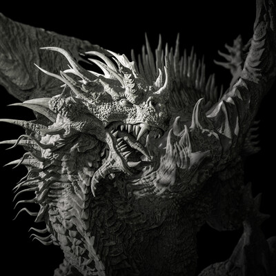 dragon concept, the Dragon, zbrushcharacter