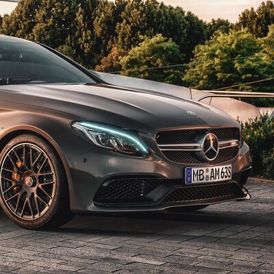 V-ray, 3ds Max, mercedes