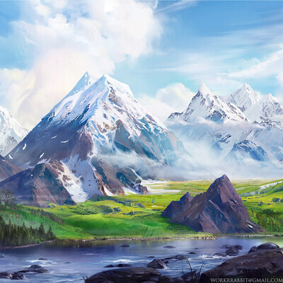 mountains, landscaping