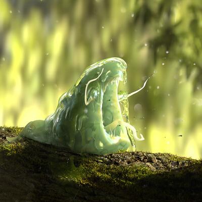 squirel, green, tree, branches, Fantasy