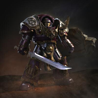 Digital 3D, Characters, Science fiction, mecha, 3d, Warhammer40k, sci-fi, Adeptus Astartes