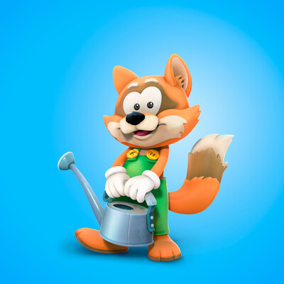 Character 3d, game, stylized, concept-art, indiegame, Digital 3D, illustration, Children's, raccoon