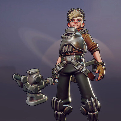Character, 3d, 3D Animation, Blender 3D, game, stylized, low-poly, postapocalyptic, concept-art, indiegame